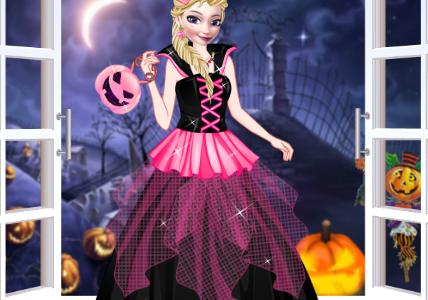 Anna és Elsa Halloween partija