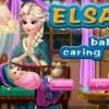 Elsa babázik